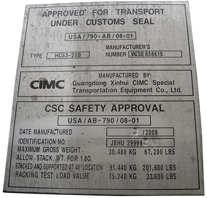 approved for transport under customs seal